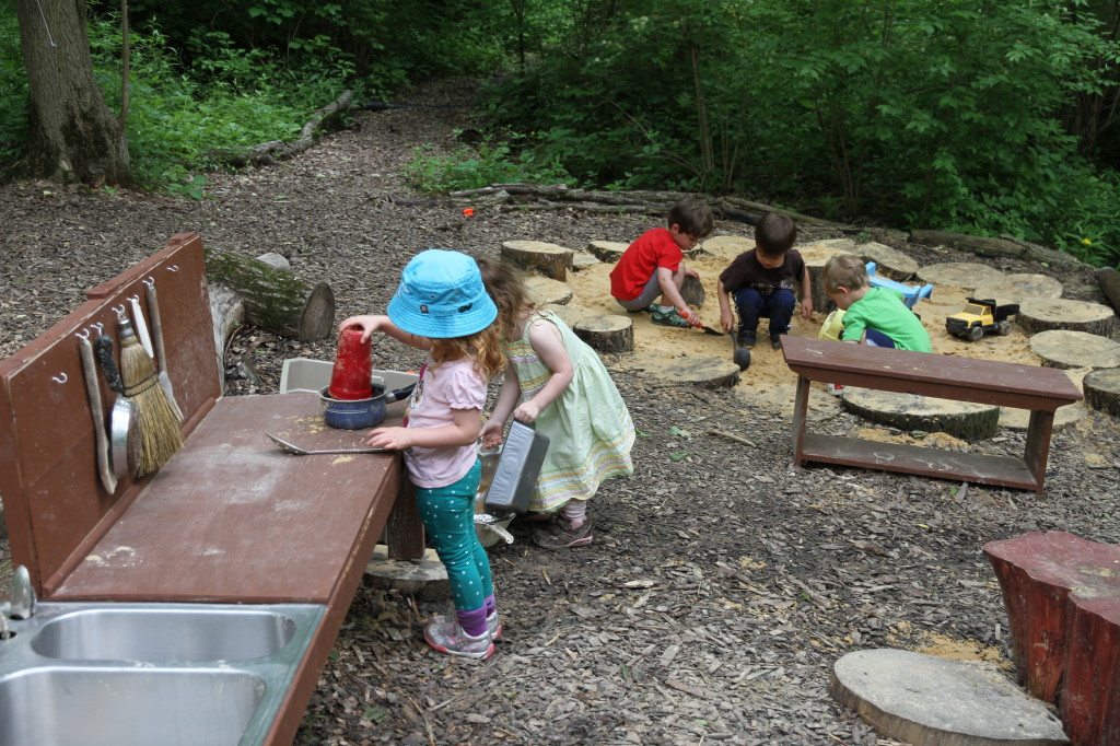 Sand Area and Play Kitchen